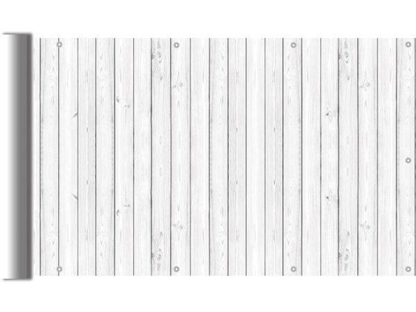 Białe deski - Osłona balkonowa
