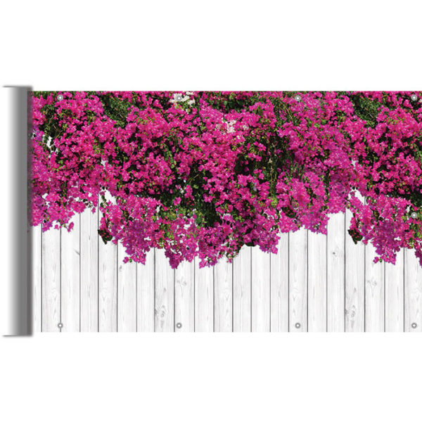 Osłony balkonowe - Kwiaty