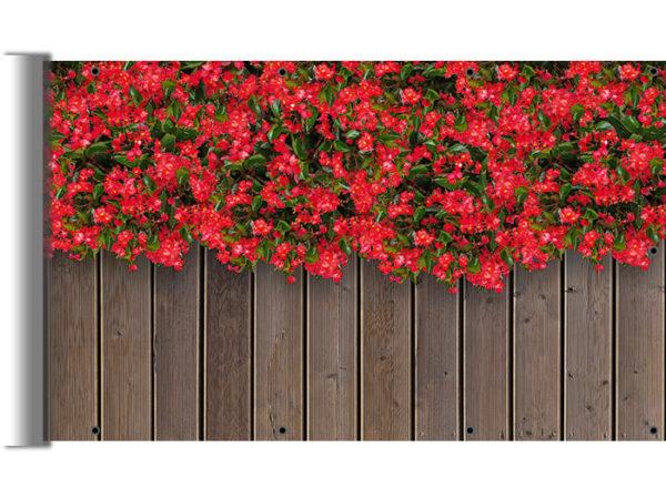 Osłony balkonowe - Begonie