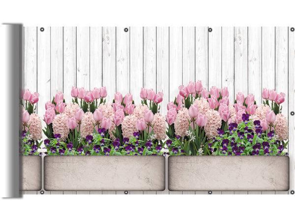 Donice z kwiatami