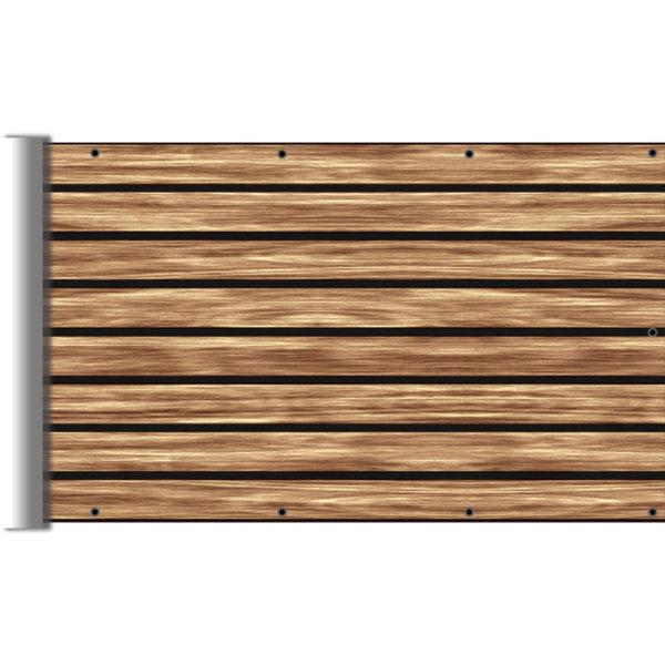 Imitacja drewna - Mata na ogrodzenie i balkon