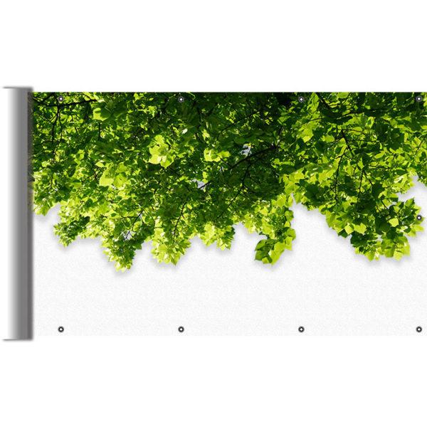 Mata balkonowa liście