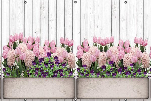 Kwiaty w donicach - Osłona balkonowa