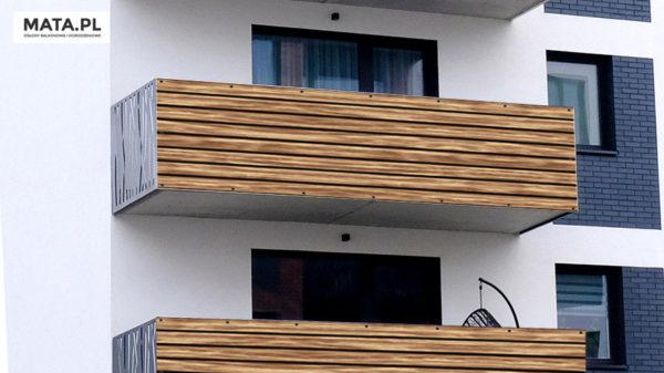 Osłona balkonowa deski