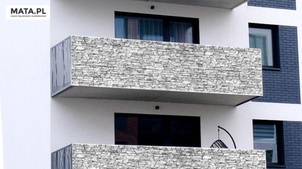 Osłona balkonowa kamień dekoracyjny