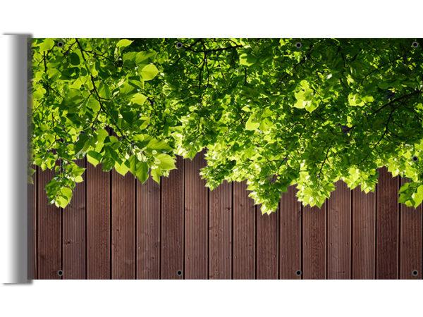 Osłona balkonowa zielone liście