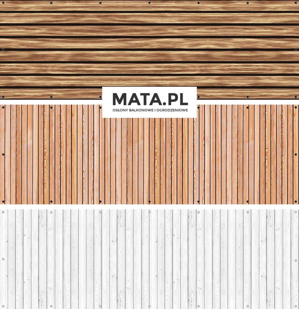 Osłona na ogrodzenie i balkon - Imitacja deski