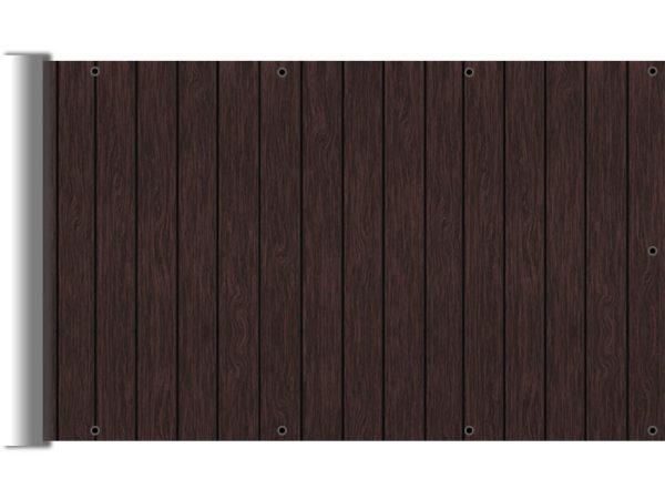 Osłony balkonowe - Imitacja deski ciemny brąz