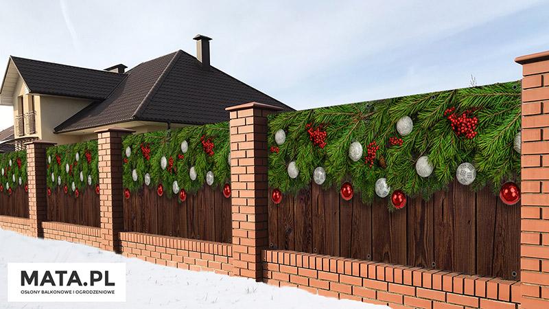 Ozdoby świąteczne do ogrodu
