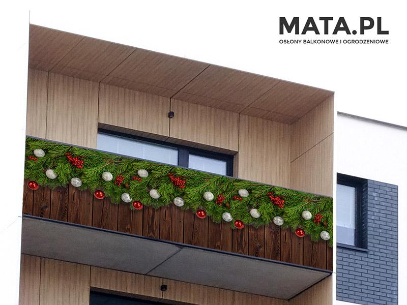 Ozdoby świąteczne na balkon